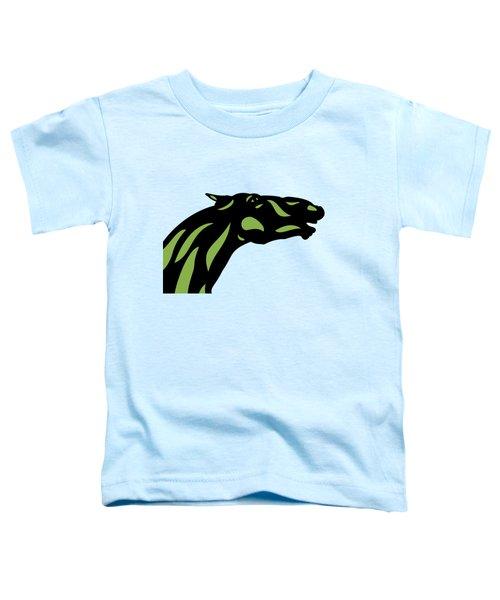 Fred - Pop Art Horse - Black, Greenery, Island Paradise Blue Toddler T-Shirt
