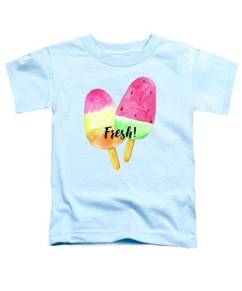 Fresh Summer Refreshing Fruit Popsicles Toddler T-Shirt by Tina Lavoie