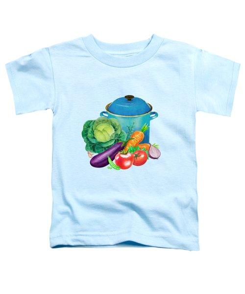 Fresh Vegetable Bounty Toddler T-Shirt by Little Bunny Sunshine