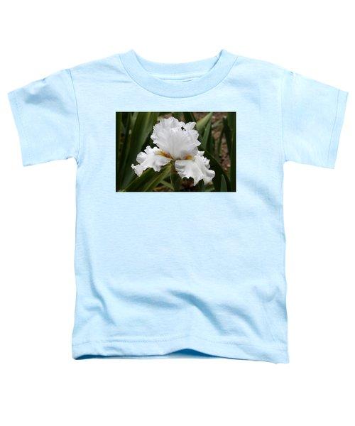 Frilly White Iris Flower Toddler T-Shirt