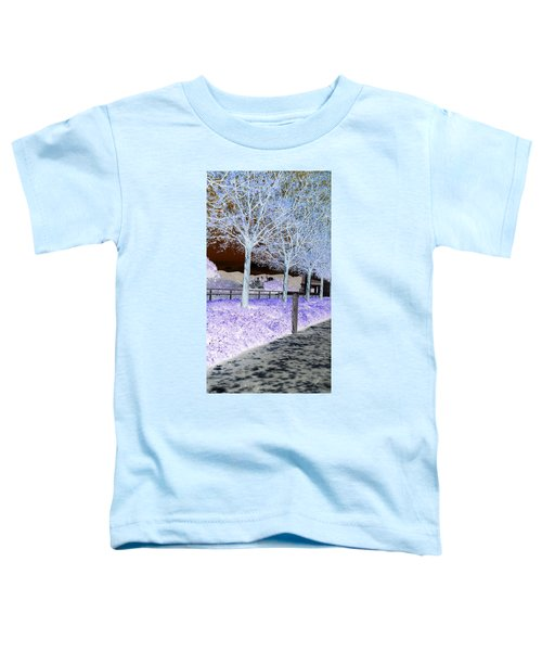 Frosty Trees At The Getty Toddler T-Shirt