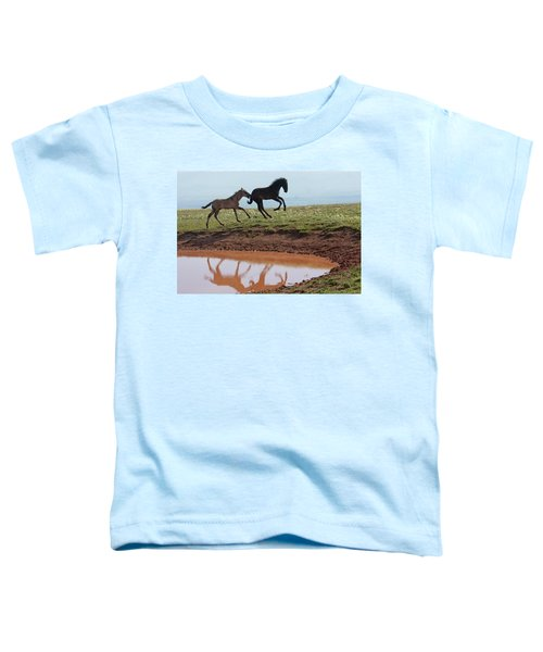 Fun In The Rockies- Wild Horse Foals Toddler T-Shirt
