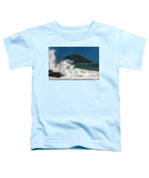 Gallinara Island Seastorm - Mareggiata All'isola Gallinara Toddler T-Shirt