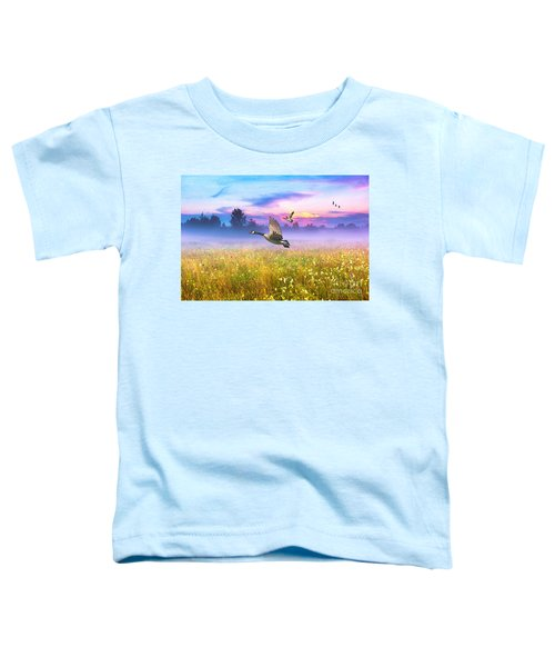 Geese In The Mist Toddler T-Shirt