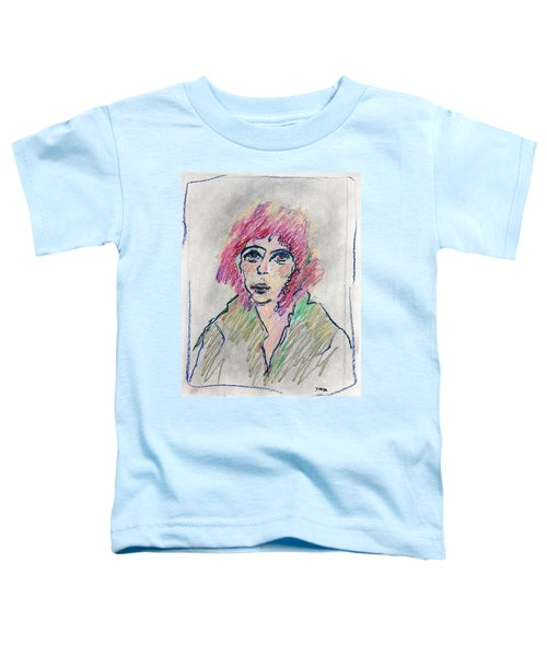 Girl With Pink Hair  Toddler T-Shirt