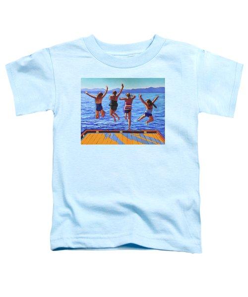 Girls Jumping Toddler T-Shirt