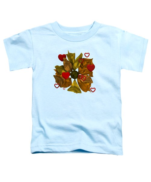 Golde Flower With Love Toddler T-Shirt
