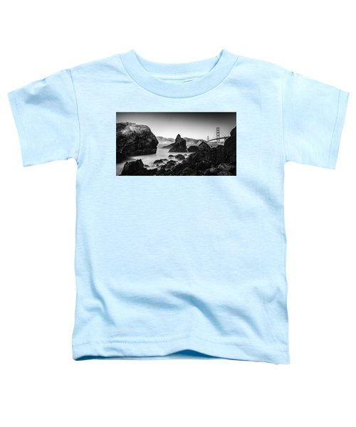 Golden Gate In Black And White Toddler T-Shirt