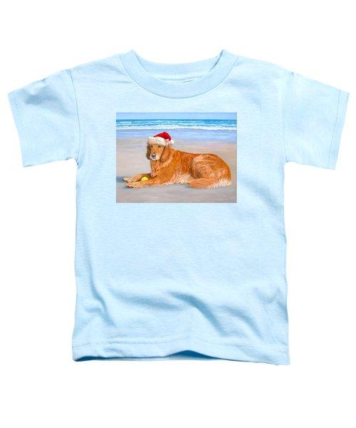 Golden Retreiver Holiday Card Toddler T-Shirt