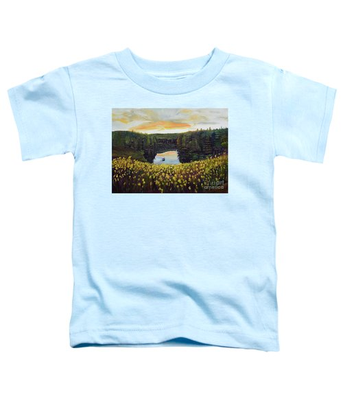 Goldenrods On Davenport Lake-ellijay, Ga  Toddler T-Shirt