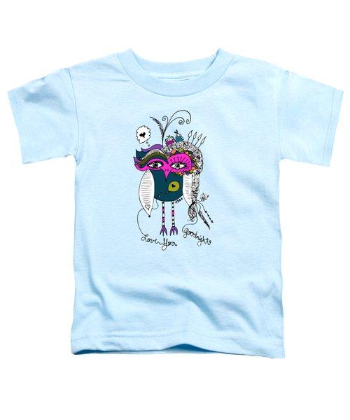 Goodnight Owl Toddler T-Shirt by Tara Griffin
