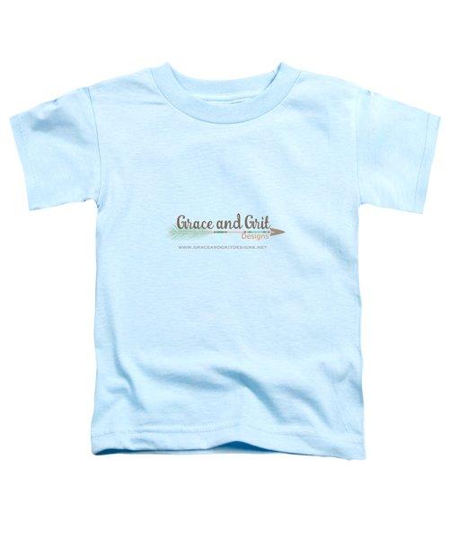 Grace And Grit Logo Toddler T-Shirt by Elizabeth Taylor