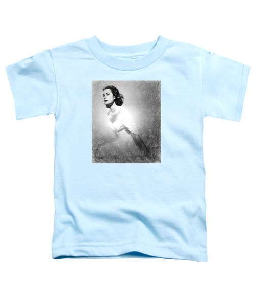 Grace Kelly Sketch Toddler T-Shirt by Quim Abella