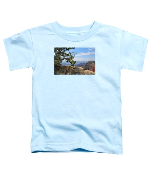 Grand Canyon North Rim Craggy Cliffs Toddler T-Shirt