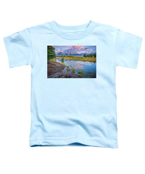 Grand Teton Sunrise Reflection Toddler T-Shirt