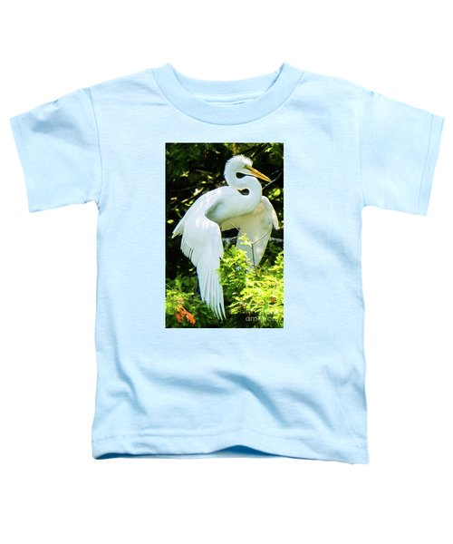 Great Egret Stretching Toddler T-Shirt