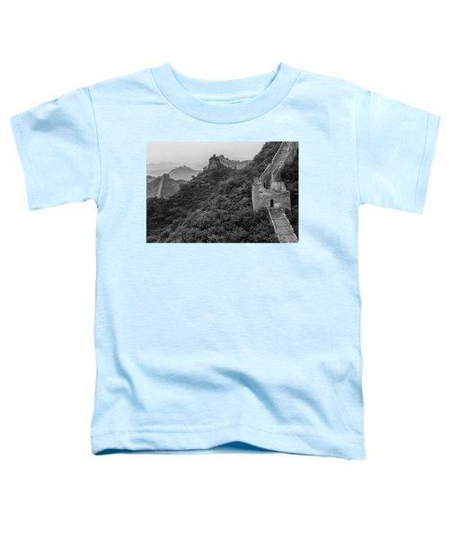 Toddler T-Shirt featuring the photograph Great Wall 3, Jinshanling, 2016 by Hitendra SINKAR