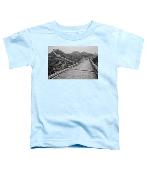 Toddler T-Shirt featuring the photograph Great Wall 5, Jinshanling, 2016 by Hitendra SINKAR