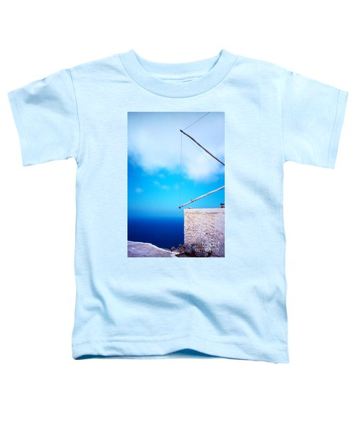 Greek Windmill Toddler T-Shirt by Silvia Ganora