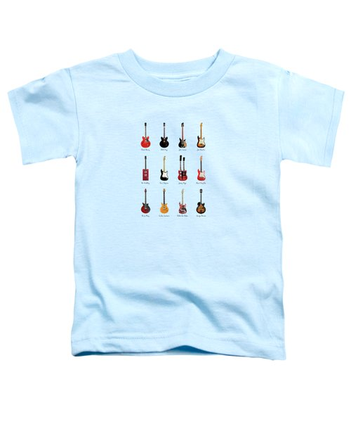Guitar Icons No1 Toddler T-Shirt by Mark Rogan