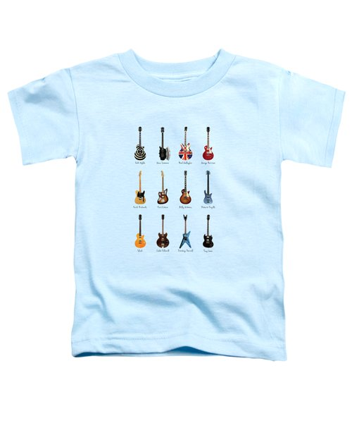 Guitar Icons No2 Toddler T-Shirt by Mark Rogan