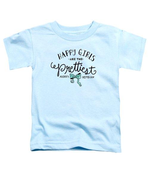 Happy Girls  Toddler T-Shirt by Elizabeth Taylor
