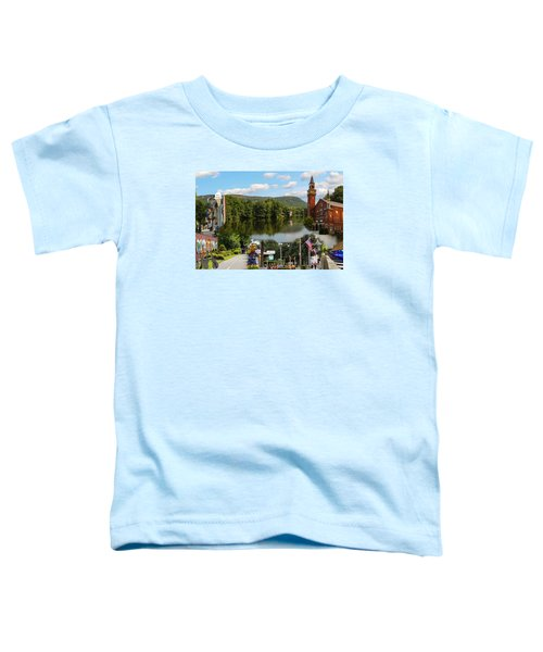 Happy In Easthampton Collage Toddler T-Shirt