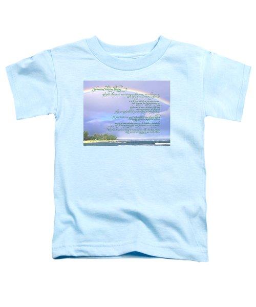 Hawaiian Language Wedding Blessing Toddler T-Shirt