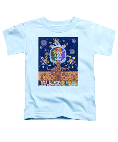Toddler T-Shirt featuring the painting Healing - Nanatawihowin by Chholing Taha