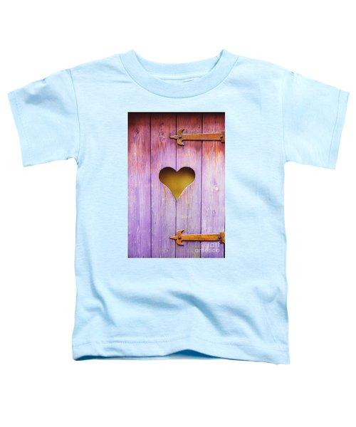 Heart On A Wooden Window Toddler T-Shirt