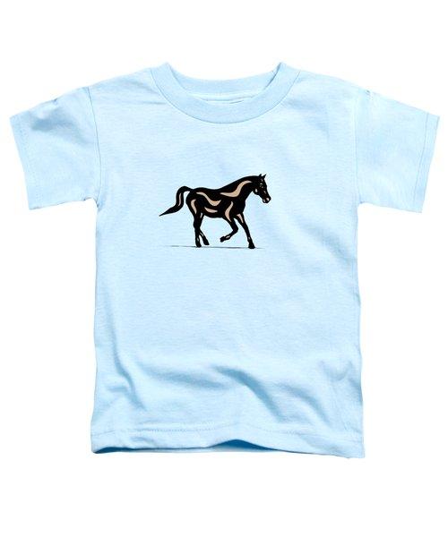 Heinrich - Pop Art Horse - Black, Hazelnut, Island Paradise Blue Toddler T-Shirt