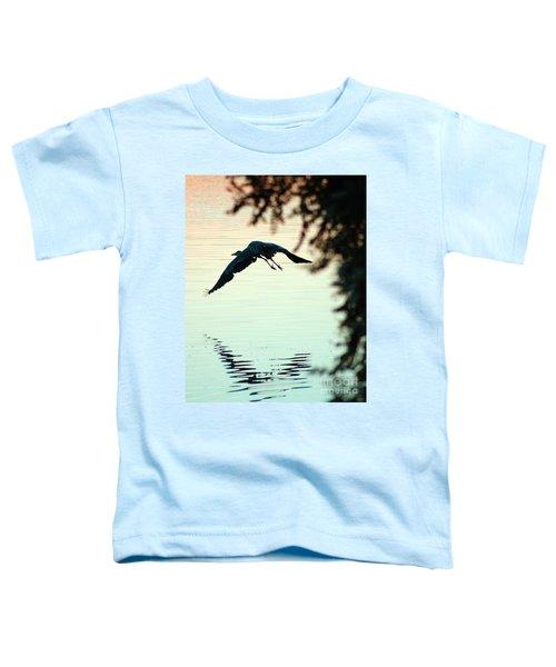 Heron At Dusk Toddler T-Shirt