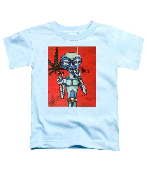 High Alien Toddler T-Shirt