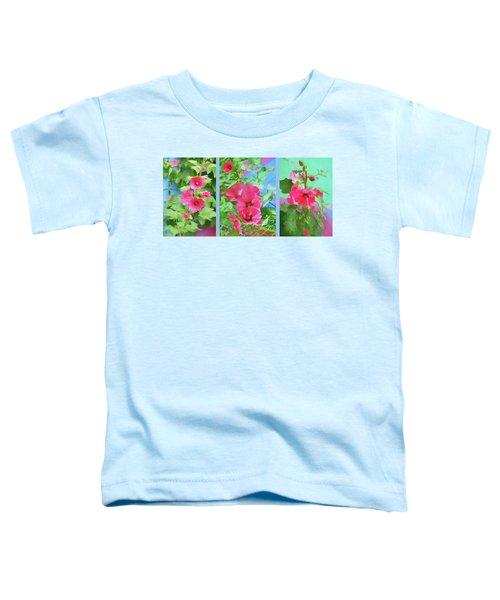 Hollyhock - Triptych Toddler T-Shirt