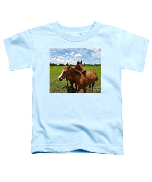 Horse Cuddles Toddler T-Shirt