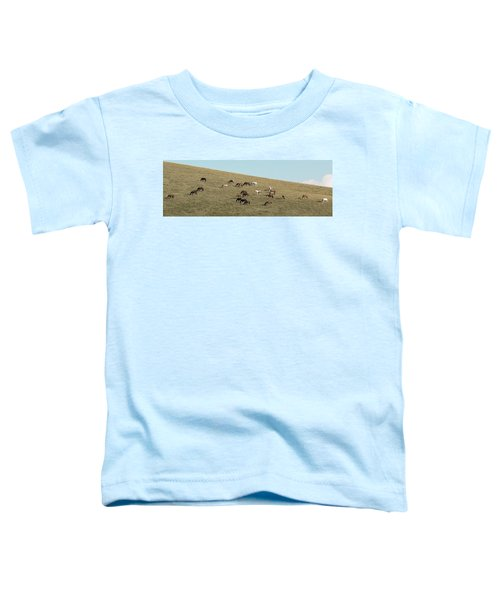 Horses On The Hill Toddler T-Shirt