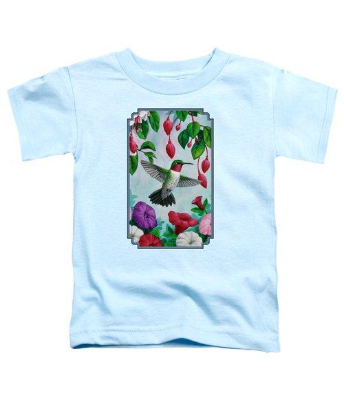 Hummingbird Greeting Card 2 Toddler T-Shirt