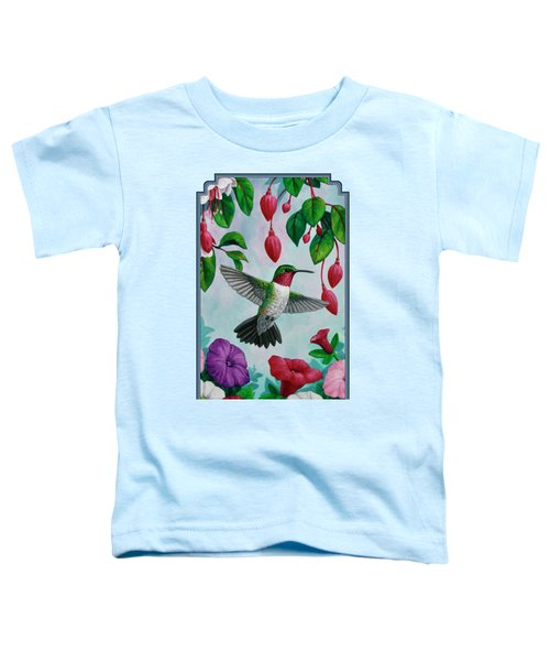 Hummingbird Greeting Card 2 Toddler T-Shirt by Crista Forest