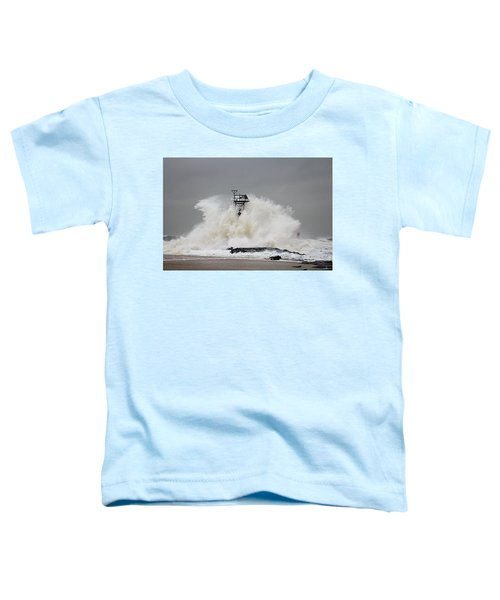 Hurricane Jose Wave At The Inlet Jetty Toddler T-Shirt