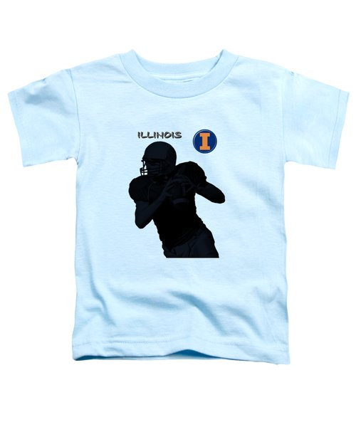 Illinois Football Toddler T-Shirt by David Dehner