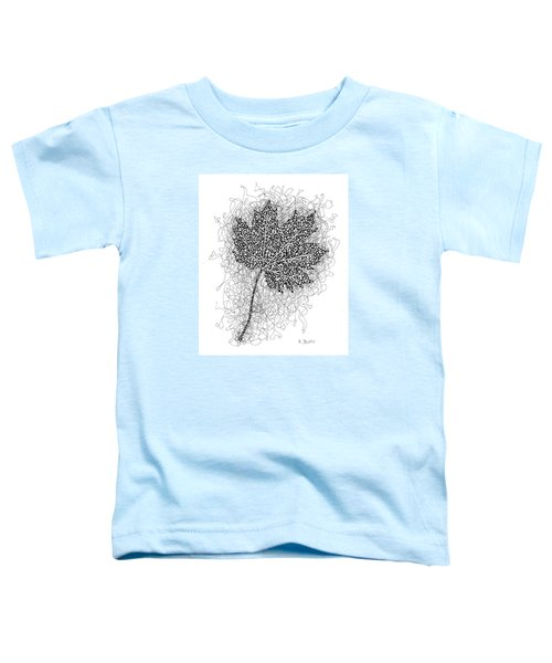 Ink Drawing Of Maple Leaf Toddler T-Shirt