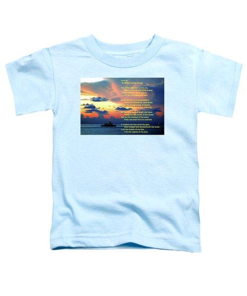Invictus By William Ernest Henley Toddler T-Shirt