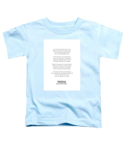 Invictus By William Ernest Henley #minimalist #poem  Toddler T-Shirt