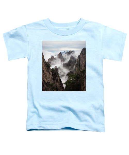 Invisible Hands Painting The Mountains. Toddler T-Shirt