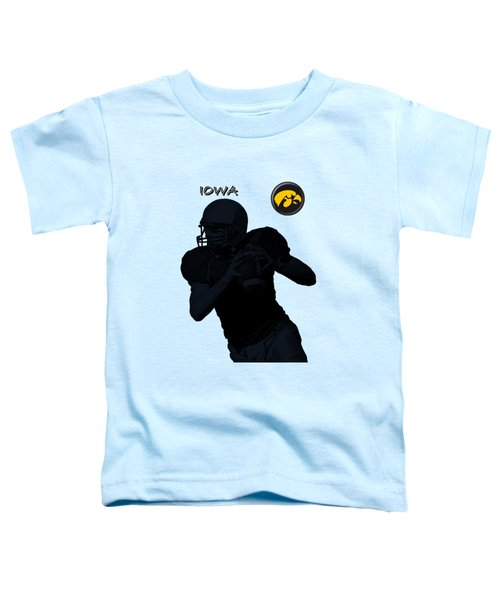 Iowa Football  Toddler T-Shirt by David Dehner