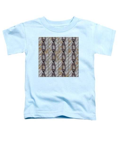 Iron Chains With Metal Panels Seamless Texture Toddler T-Shirt