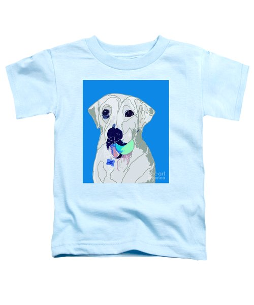 Jax With Ball In Blue Toddler T-Shirt
