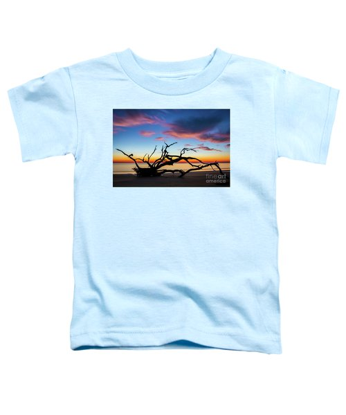 Jekyll Island Sunrise On Driftwood Beach Toddler T-Shirt