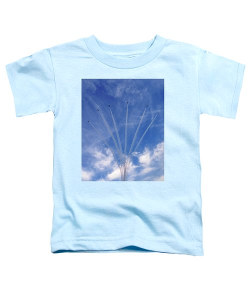 Jet Planes Formation In Sky Toddler T-Shirt