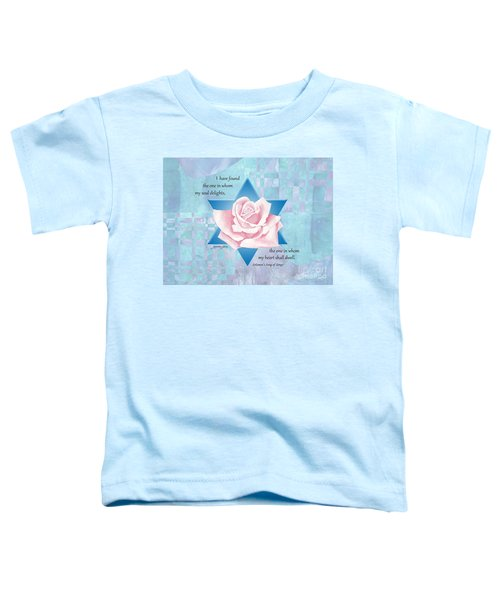 Jewish Wedding Blessing Toddler T-Shirt